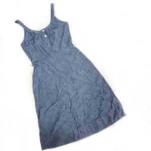 Lands End Canvas fit & flare chambray denim dress